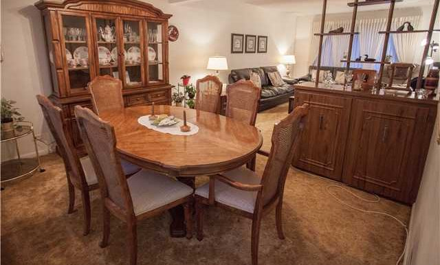 Dining Room. A large combined dining and living room